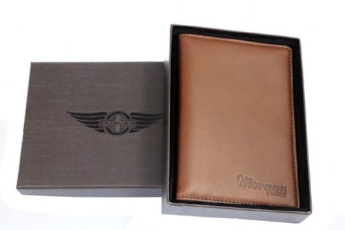 Leather Passport Holder with Card Pockets - Brown